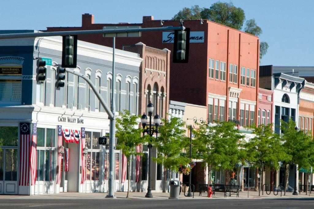Cache Valley, Logan Downtown, near Salt Lake City