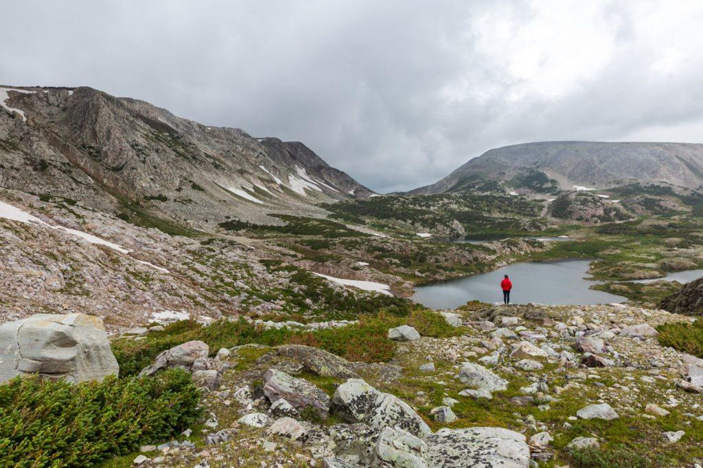 Hiking in the Medicine Bow Mountain range during our Yellowstone road trip