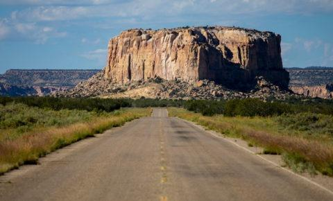 Rock formation in Grants, New Mexico