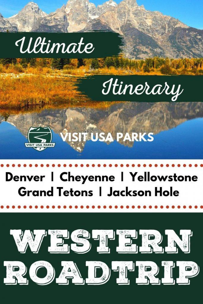 Ultimate Western Colorado to Yellowstone road trip pin