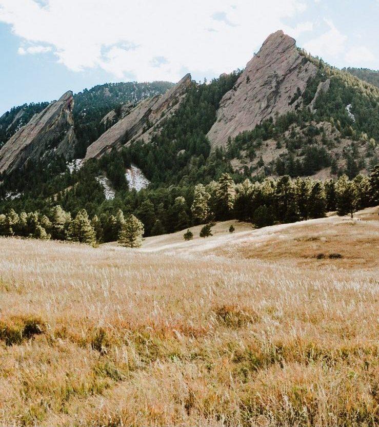 The Flatirons in Boulder, Colorado.