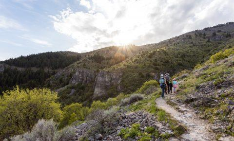 Hiking to Wind Caves in Logan Canyon, Utah