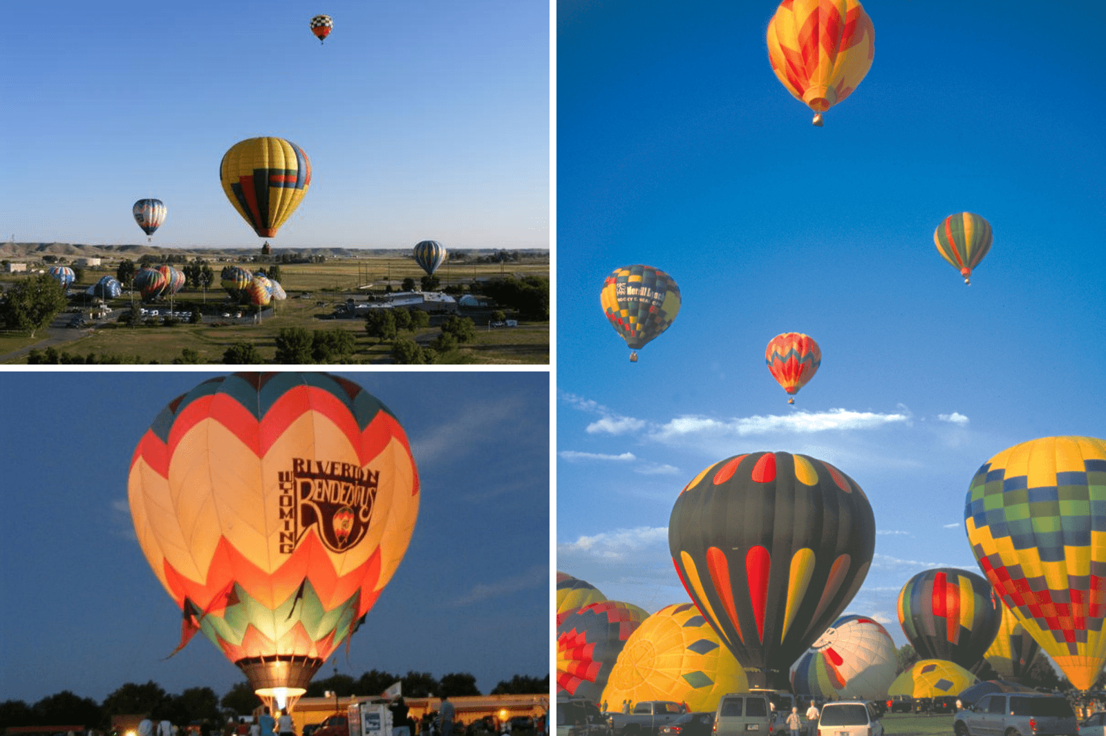 Hot air balloons over Riverton Wyoming as cultural experiences