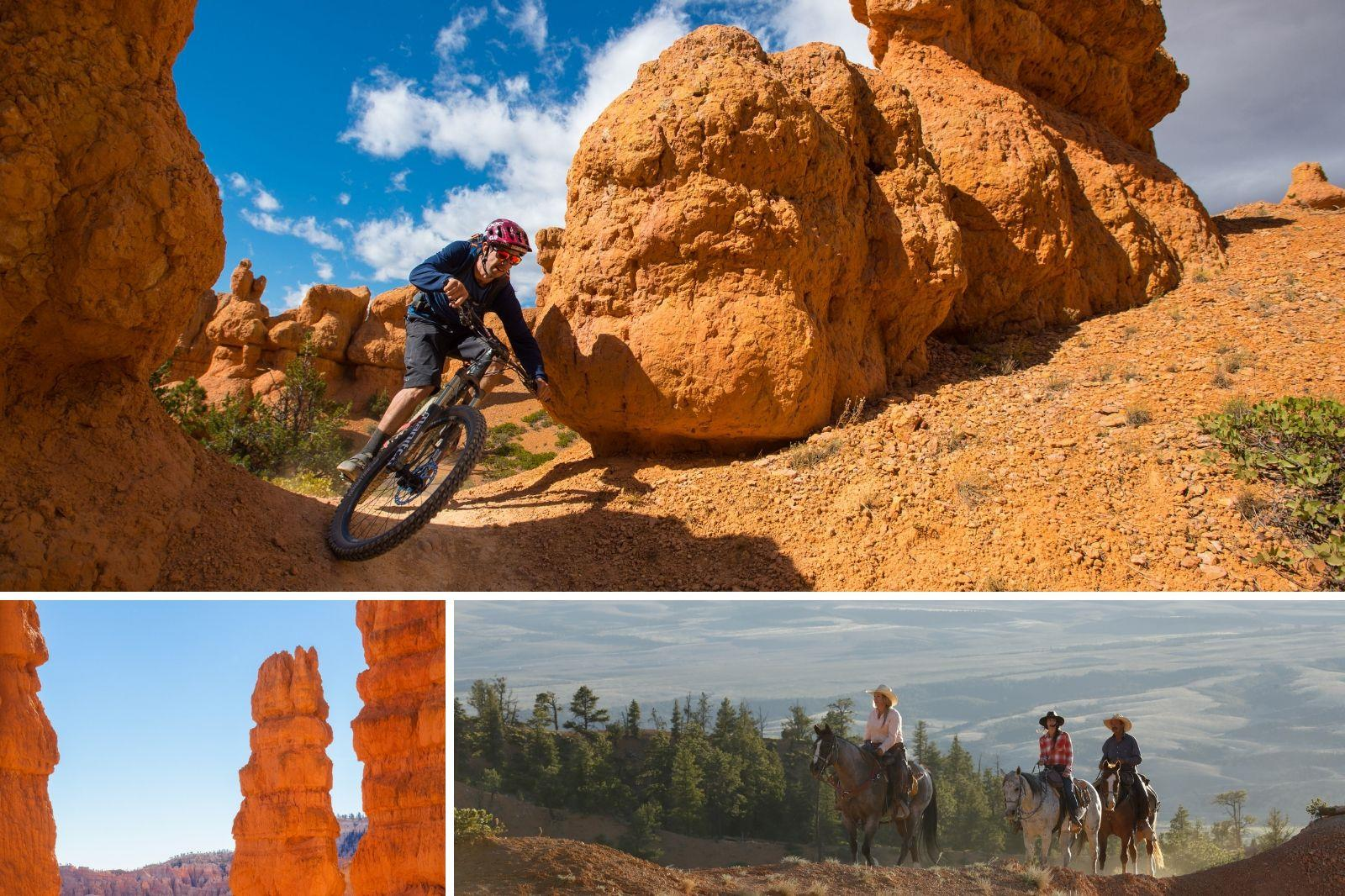 Biking and Horseback riding in Bryce Canyon Country