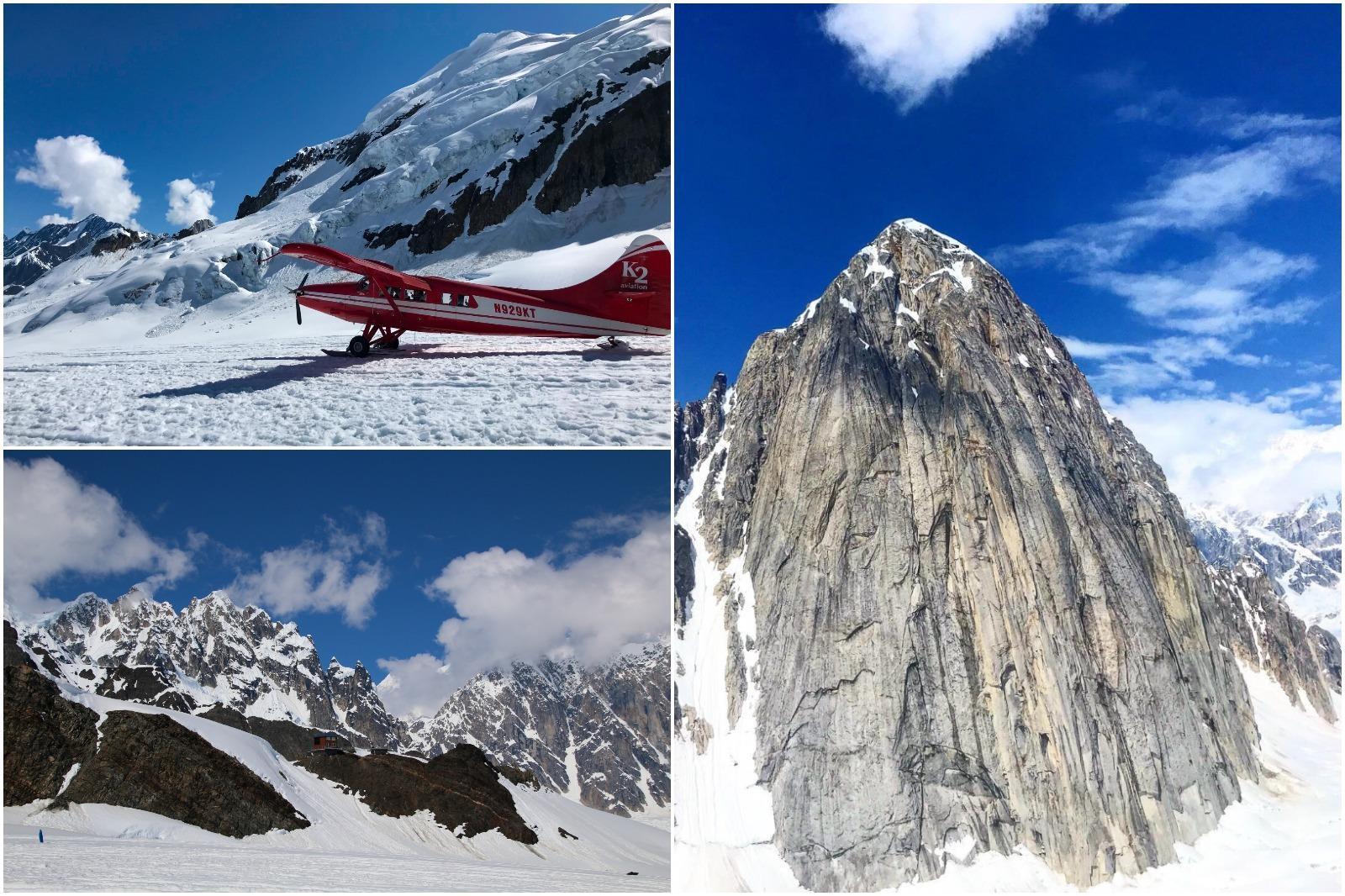 Alaska float plane tour on a glacier