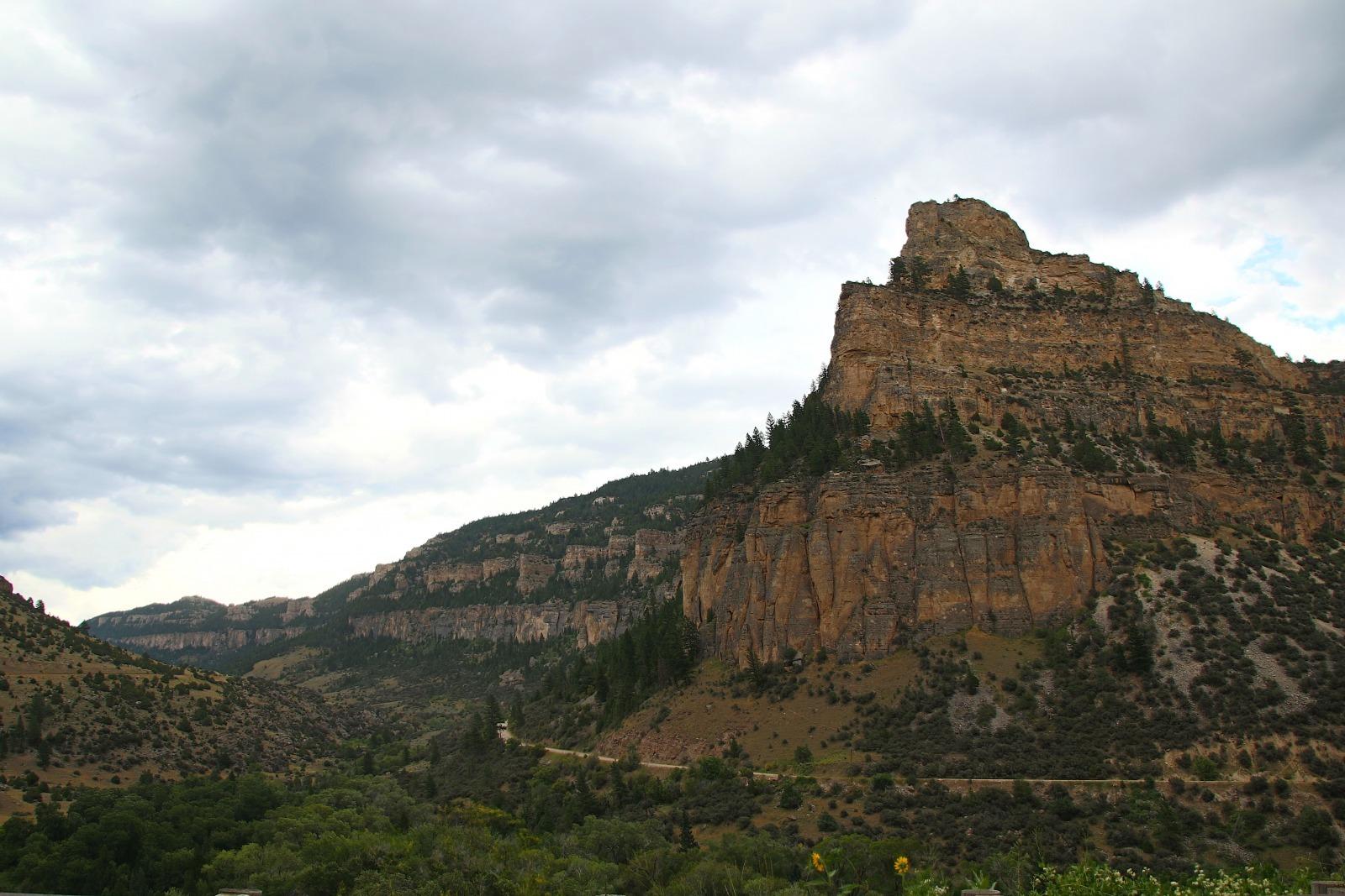 Cliffs in Tensleep Canyon, Wyoming.