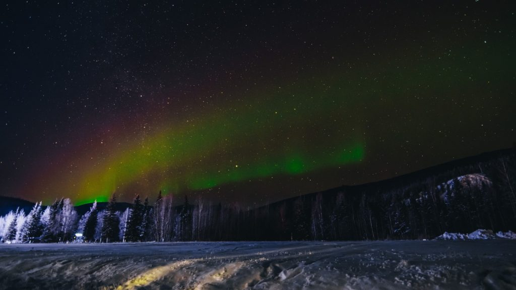 Northern Lights at Chena Hot Springs, Alaska.