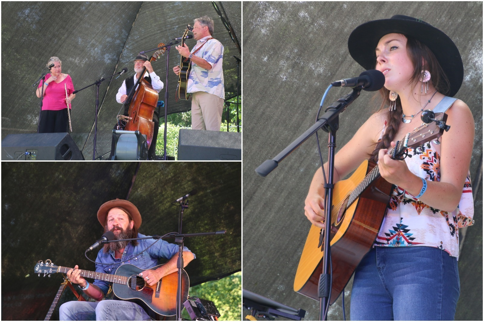 Musicians perform at Nowoodstock, one of the best music festivals in Wyoming.