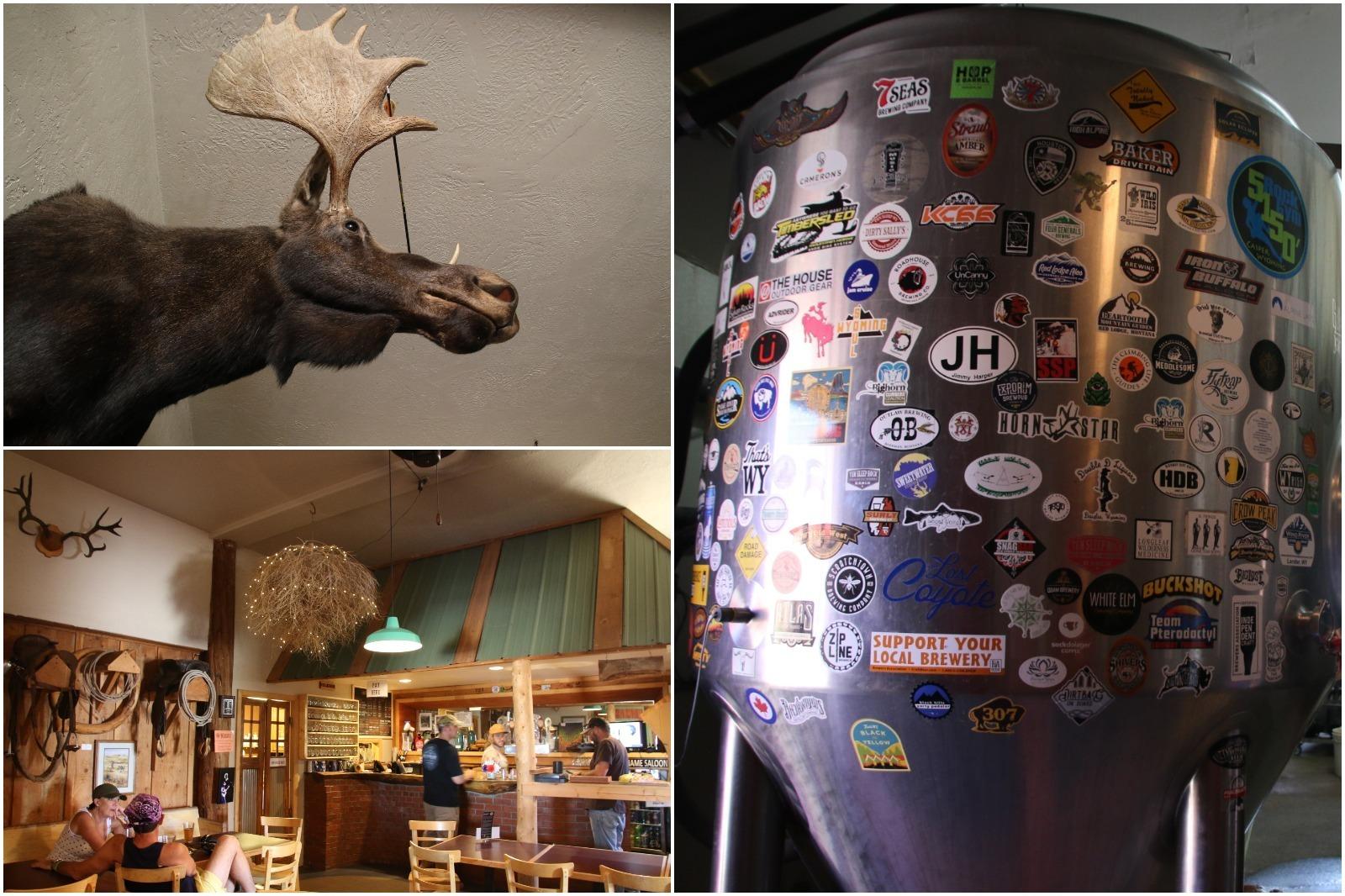 Interior images of Tensleep Brewing company in Tensleep, Wyoming.