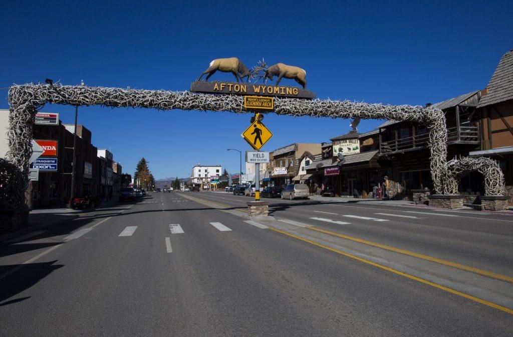 Antler arch in Afton, Wyoming.