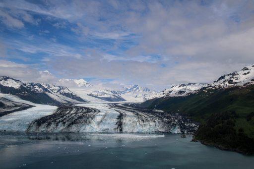 Glacier in Alaska. View from float plane.