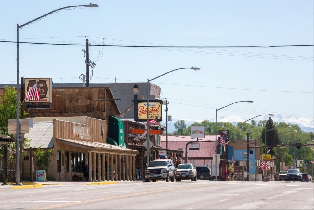 Downtown Pinedale, Wyoming.