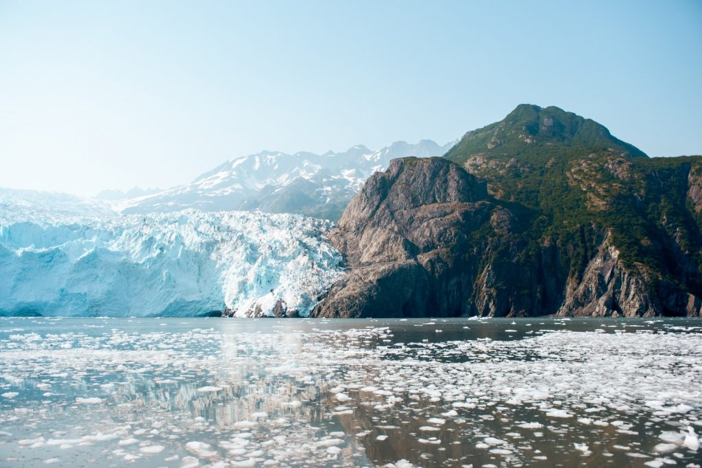 Where glaciers and mountain meet the ocean.