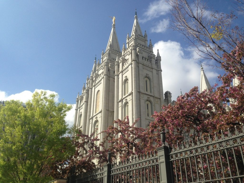 Temple Square in Salt Lake City, Utah.