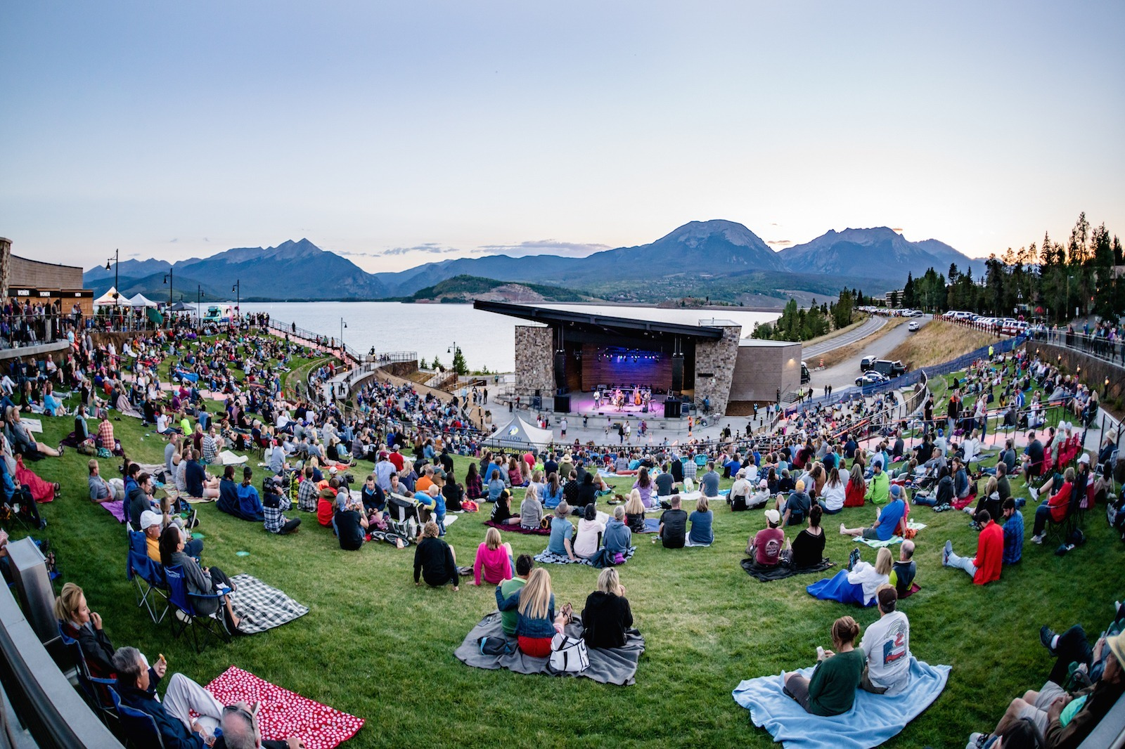 Views of Lake Dillon at the amphitheater in the summer