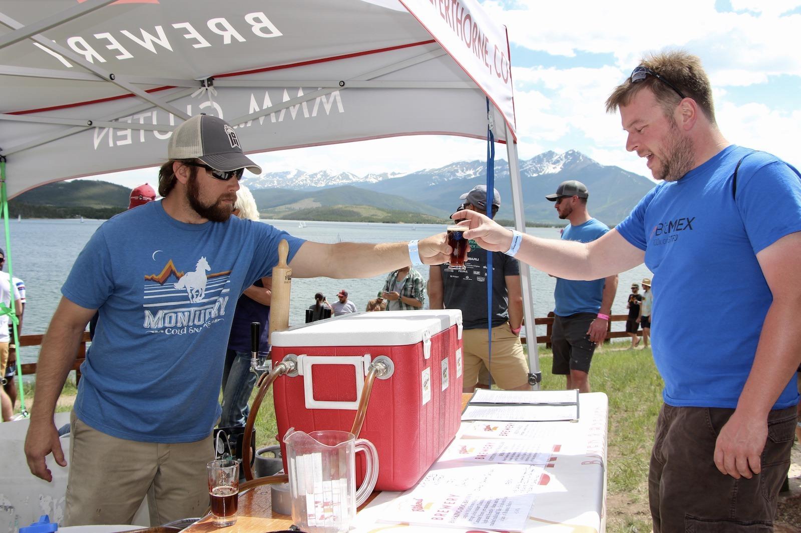 Dillon Colorado in the high Colorado mountains has an annual beer festival