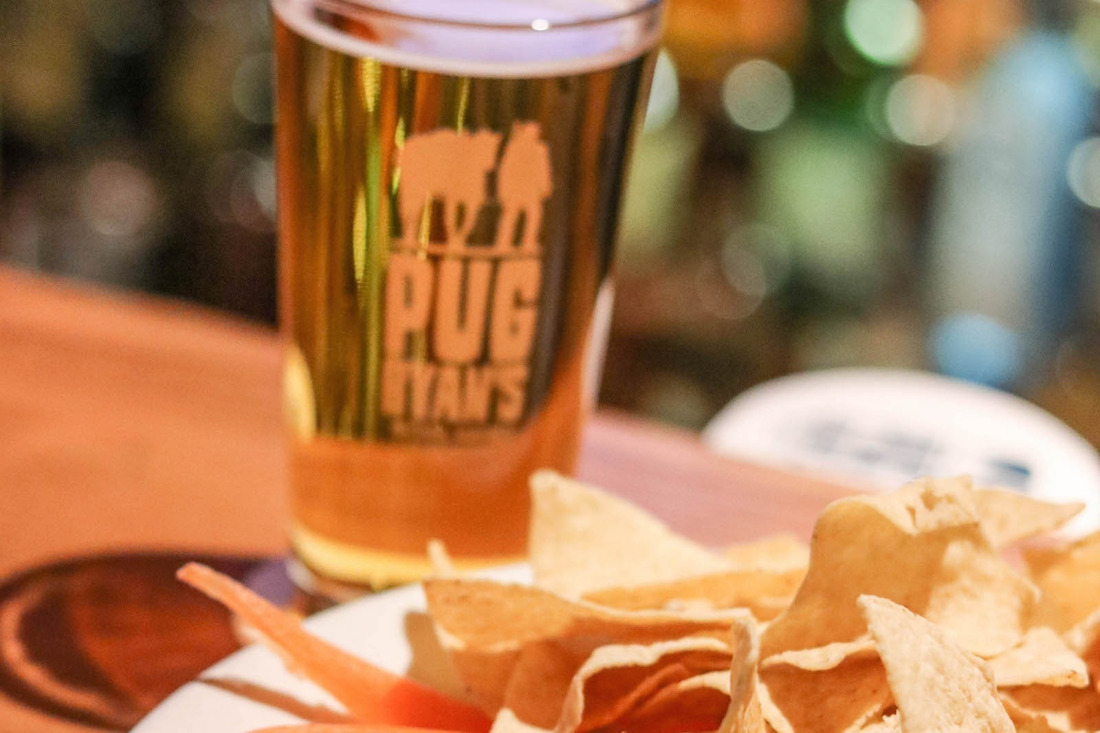A beer and chips at a local brewery in Dillon, Colorado