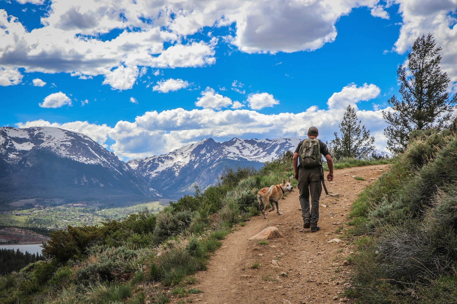 Hike into town or in to the high Colorado mountains from your campsite on Lake Dillon