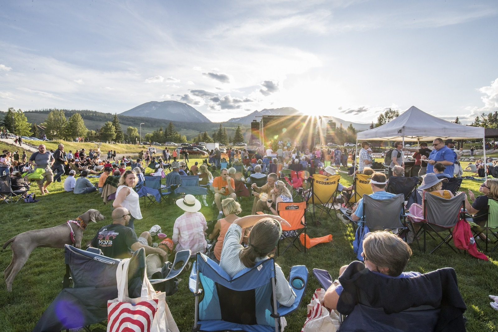 Live, free concert in Silverthorne, Colorado