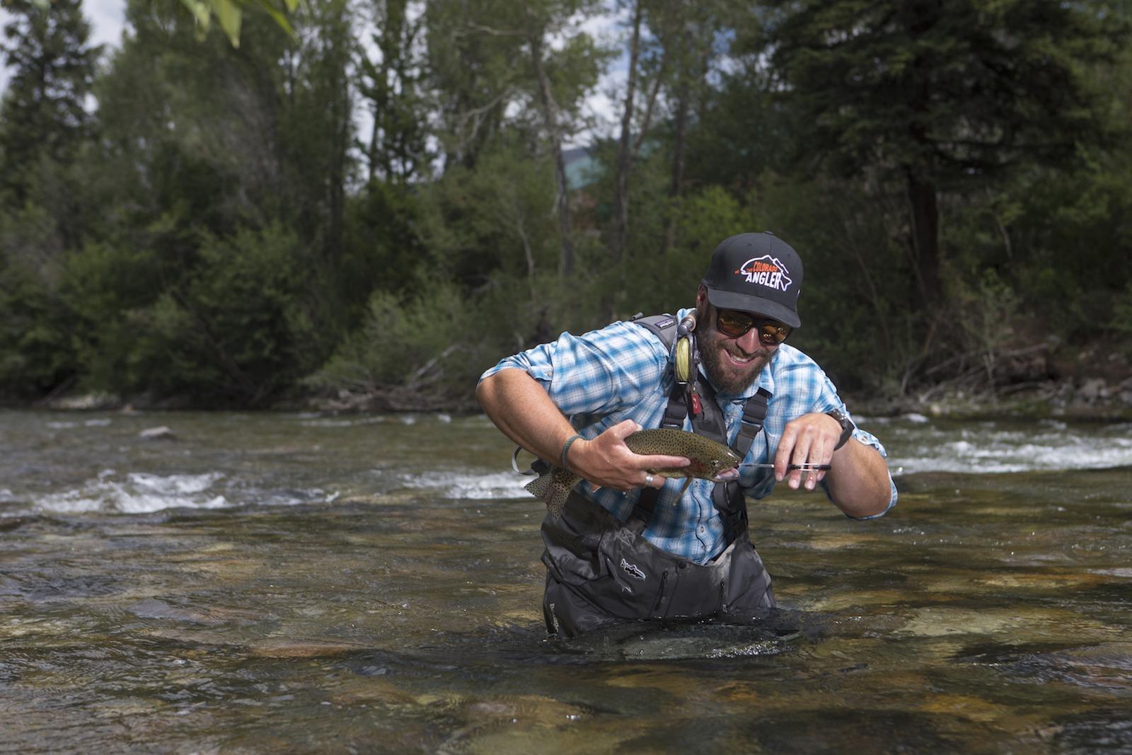 Fishing in Silverthorne of high Colorado region