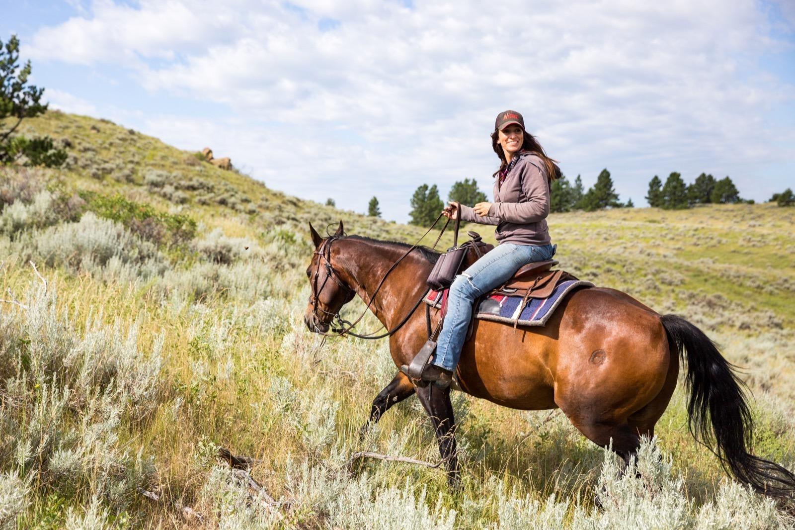 Go horseback riding on your Montana Road Trip.