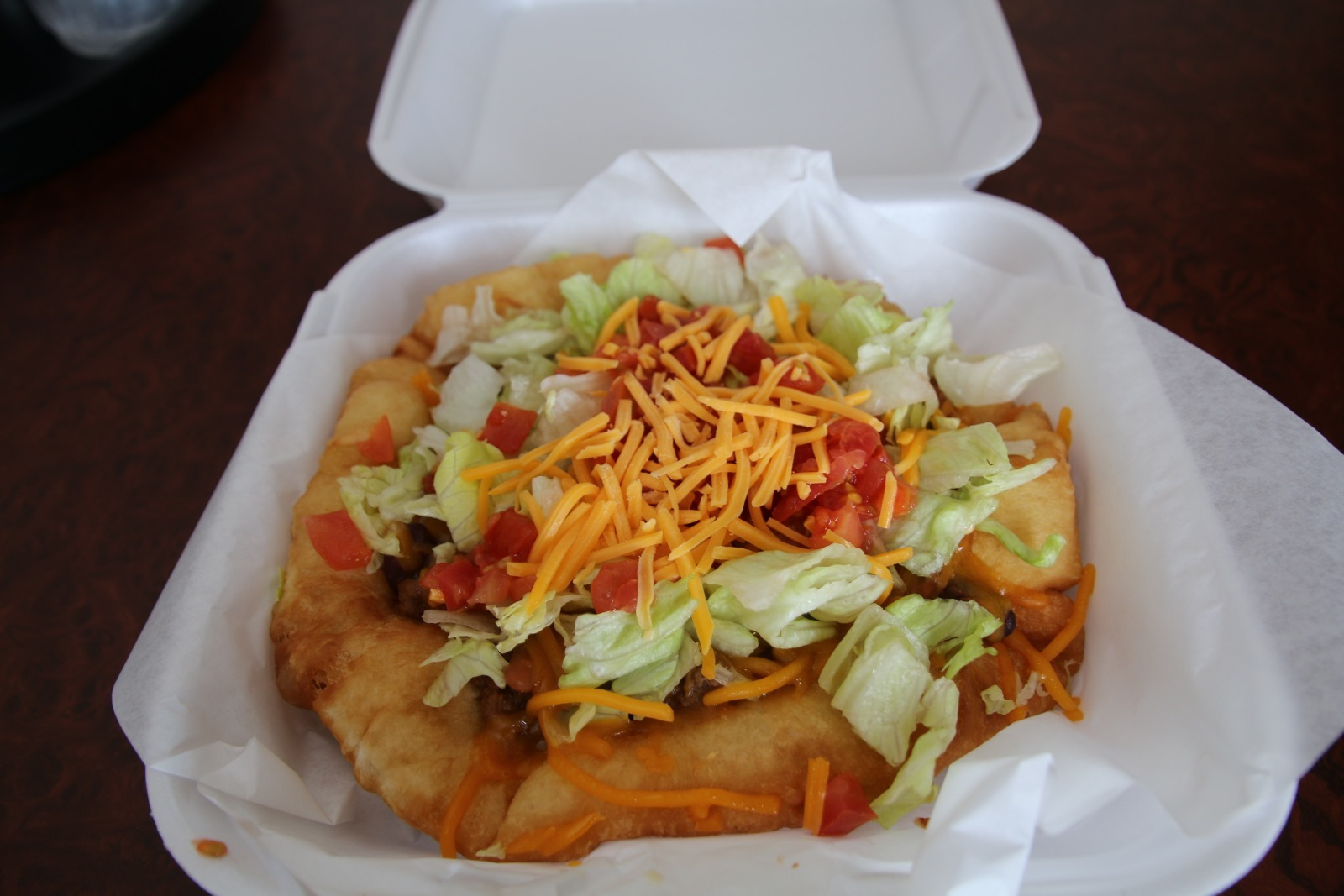 Indian taco from the Wind River Hotel & Casino in Wyoming