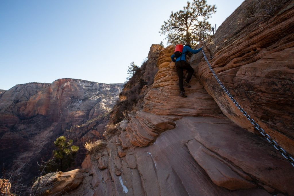 Hiking Angel's Landing in Zion National Park.