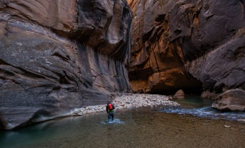 the narrows in zion canyon
