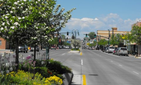 Main Street in Riverton Wyoming, where Wyoming cultural experiences are rich