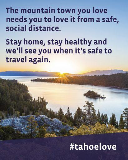 Responsible non-travel to Lake Tahoe