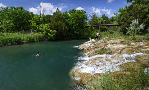 Cascade Falls Hot Springs in Sout Dakota
