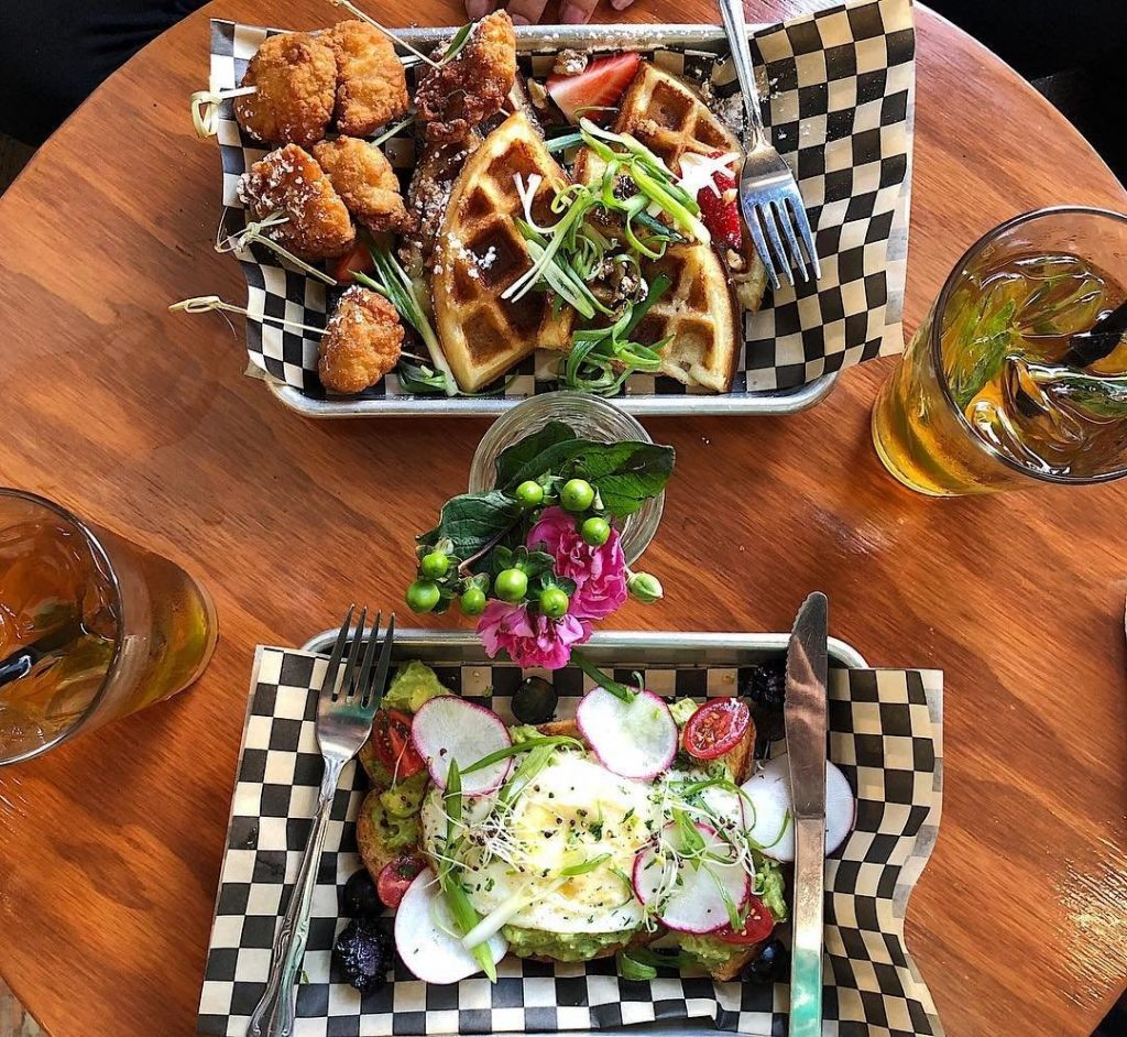 A plate of food in Stockton, California