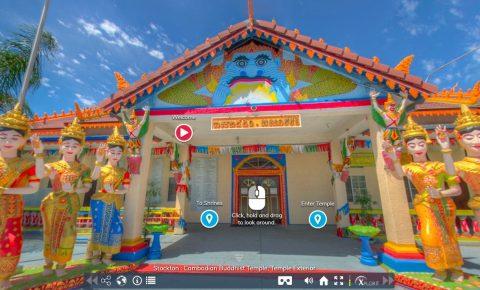 Cambodian Buddhist Temple virtual tour in Stockton CA