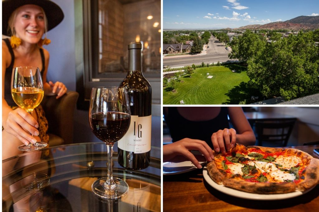 Winery, festival and pizza