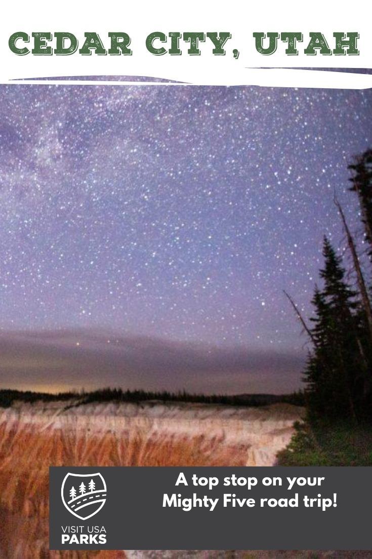 Mighty Five road trip stop: Stargazing in Cedar City pin