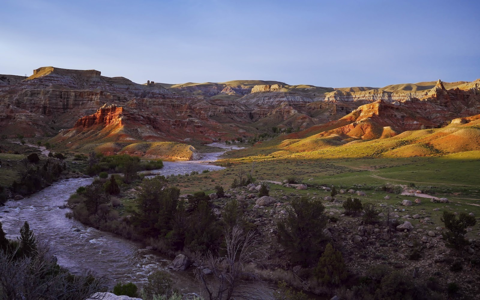 Sunset over the Dubois Badlands and the Wind River