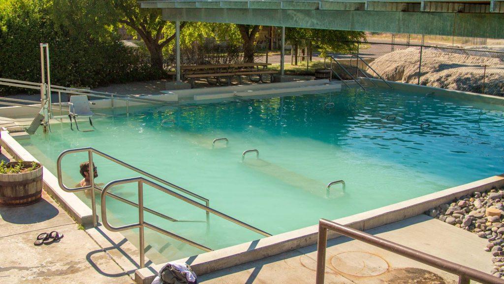 Hot Springs pool in Thermopolis, Wyoming