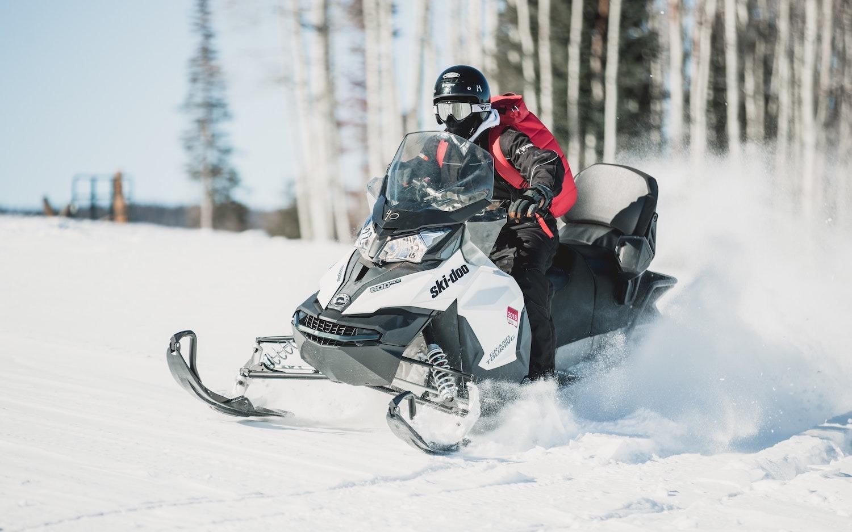 Snowmobile Cody Wyoming_stock image